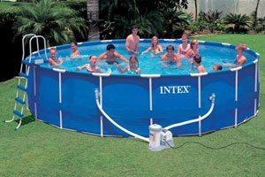 intex metal frame 18ft x 48 39 39 swimming pool. Black Bedroom Furniture Sets. Home Design Ideas