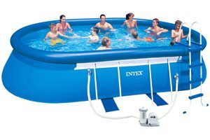 intex oval 10 x18ft swimming pool. Black Bedroom Furniture Sets. Home Design Ideas