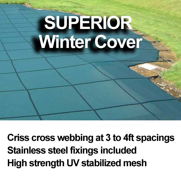 superior winter pool cover