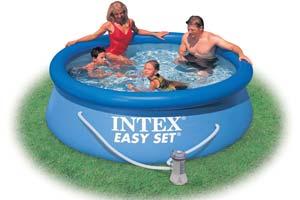 intex easy set 8ft x 30 inch swimming pool. Black Bedroom Furniture Sets. Home Design Ideas