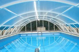 Pool enclosure internal view